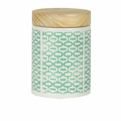 NEW Leaf & Bean Embossed Canister 1.15L Mint