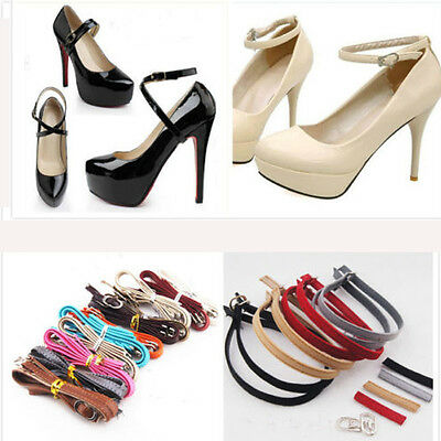 Women Leather Shoe Straps Laces Band for Holding Loose High Heeled Shoes Newly