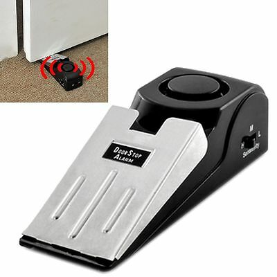 Door Stop Alarm Wireless Home Travel Security System Portable Safety Alert Wedge