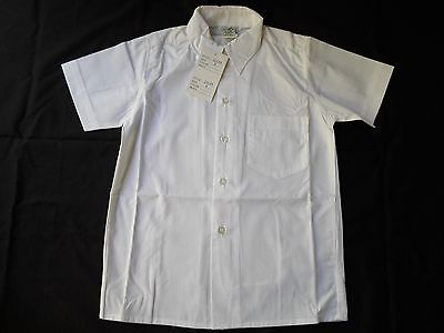 CLEARANCE!!! Boy's White Short Sleeve School Shirt, Sizes: 6, 8, 10 & 14, BNWT
