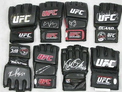 8 x Legends of UFCHand Signed UFC Gloves + PSA, JSA, GSP,Anderson,Dana,Chuck