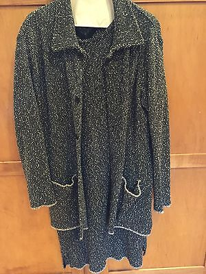 A Pea in the Pod Maternity Black White Tweed Dress Jacket Suit Size M L