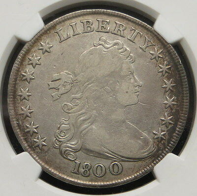 1800 Heraldic Eagle Reverse Draped Bust Silver Dollar, NGC Certified VF DETAILS