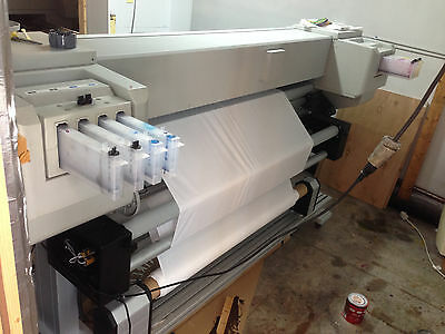 Mutoh ValueJet VJ-1638 Dual Head Auto Take Up Roll to Roll Waterbased Ink