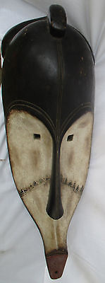 Very Large African Tribal Fang Ngil Carved Wood Mask Gabon Africa