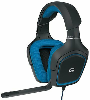 LOGITECH G430 981-000536 Dolby 7.1 surround sound Gaming Headset 360-degree NEW