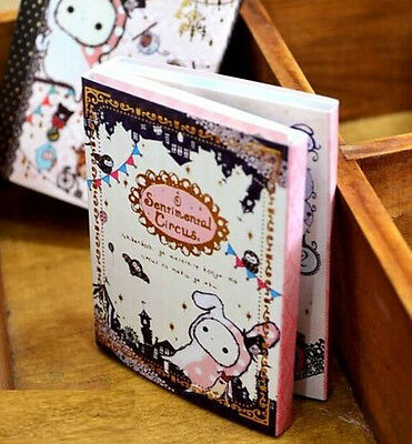 FD2560 Sentimental Circus Notepad Diary Exercise Notebook 6 Folded 120 Pages ♫