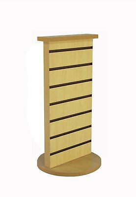 2-Sided Slatwall Counter Spinner Maple Display Rack Great for Gift,Jewelry 15592