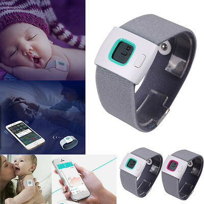 iFever Bluetooth Smart Wearable Healthy Baby 24h Wrist Thermometer Monitor Phone