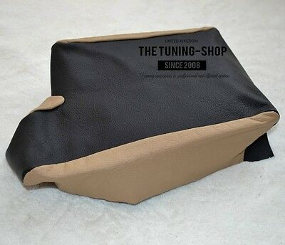 For Bmw E36 Black+Beige Leather Replacement Cover For Armrest Part Not Lid