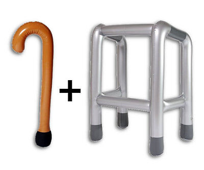 Inflatable Zimmer Frame Walking Frame With FREE Inflatable Walking Stick NEW