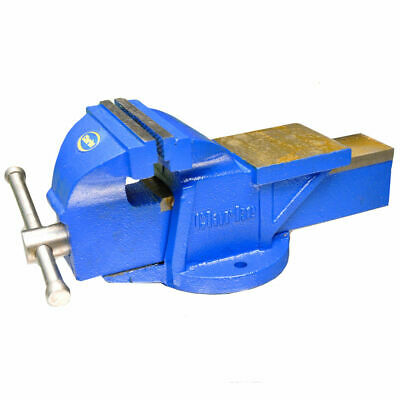 "Clarke CV150B MetalworkK Fixed Bench Vice 6"" 150mm BLUE Jaw depth 75mm - 17Kg"