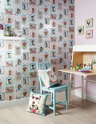 Cats & Dogs Hall of Fame Girls Kids Bedroom Concept - Wallpaper / Art / Cushion