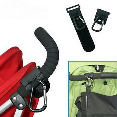 Baby Pushchair Stroller Pram Clip Hooks Shopping Bag Hook Holders Accessories LG