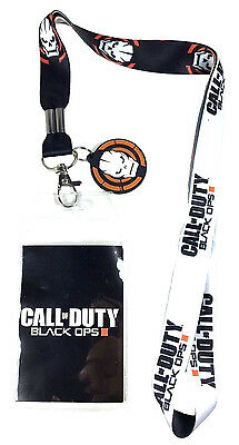 Call Of Duty Black Ops Iii Rubber Zombies Charm Lanyard Badge Id Holder Keychain