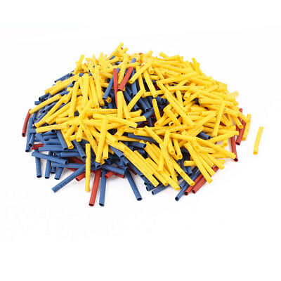750Pcs 3mm 2:1 Heat Shrink Tube Sleeving Wrap Wire Kit Red Yellow Blue
