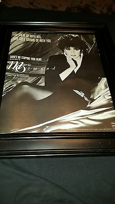 Marie Osmond There's No Stopping Your Heart Rare Original Promo Poster Ad Framed