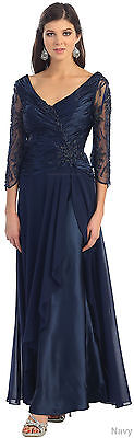 Sale! Classy 3/4 Sleeve Evening Gown Church Dress Modest Special Occasion Attire