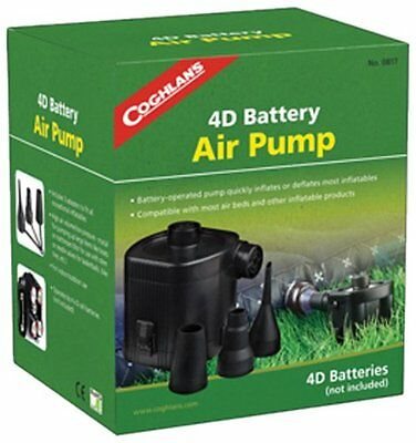 Coghlan's 0817 Battery Powered Air Pump Includes 3 adapters (Size: 1 Pump)