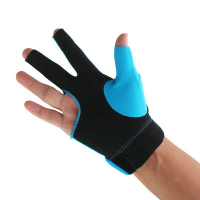 Blue Pro Player Snooker Billiard Cue Table Glove Right Hand Three Finger