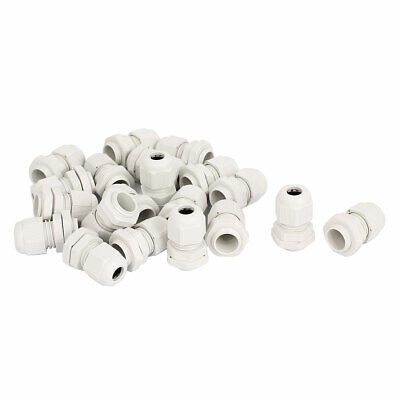20 Pcs PG9 3.5-8mm M16 Thread Dia Cable Gland Fixing Connector Fastener White