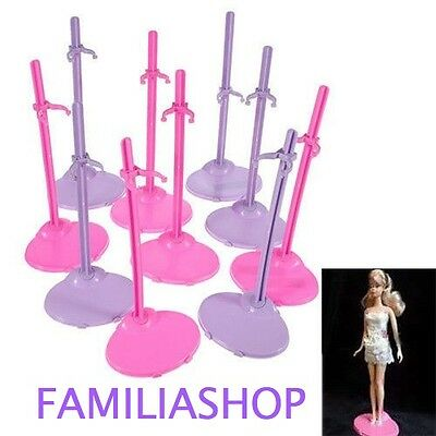 Lot 10 Support Stand Presentoir pour Poupee Barbie Steffie ou Winx NEUF
