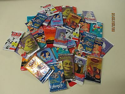Disney 40 Assorted Trading Card Unopened 40 Pack Lot.