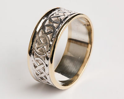 Irish Handcrafted Sterling Silver and 14k Gold Irish Mo Anam Cara Ring all sizes
