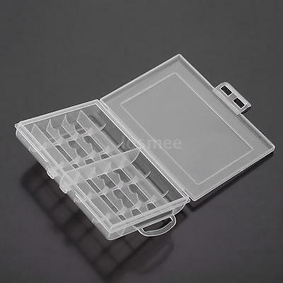 1pc Hard Plastic Battery Case Box Holder Storage for 10x AA / AAA Batteries CH5E