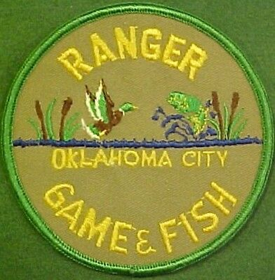 Oklahoma City Game & Fish Ranger Brown Twill Patch