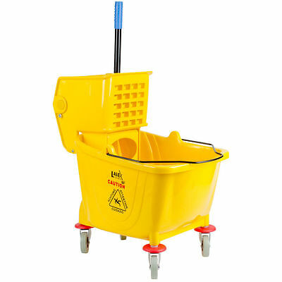 Lavex Janitorial Yellow 36 Quart Mop Bucket & Wringer Combo FREE TAX-SHİPPİNG