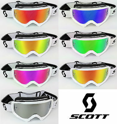 GOGGLE-SHOP MOTOCROSS MX GOGGLE CHROME MIRROR LENS to fit SCOTT HUSTLE
