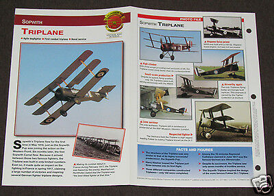 SOPWITH TRIPLANE Airplane Photo Spec Sheet Booklet Brochure