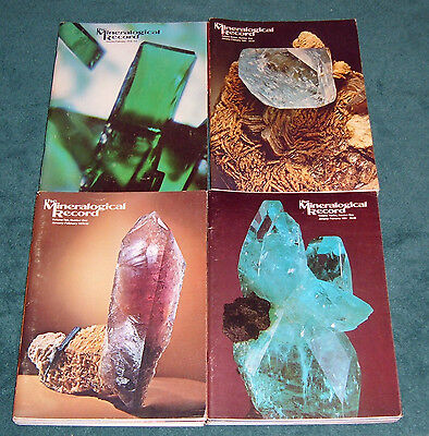 24 Issues of the Mineralogical Record  Complete Years 1978,1979,1980 and 1981