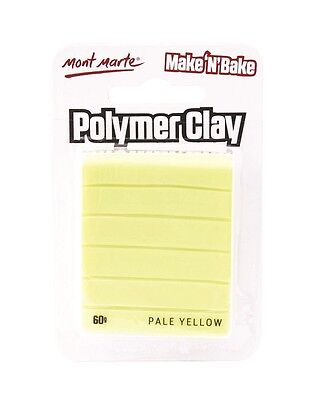Mont Marte Make N Bake Polymer Clay 60g - Pale Yellow