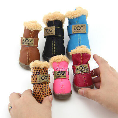Winter Dog Boots Waterproof Anti-Slip Pet Puppy Shoes Protective Snow Booties