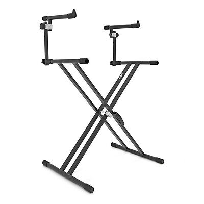 New X-Frame Keyboard Stand by Gear4music, 2 Tier