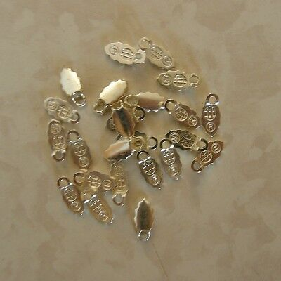240 Silver Plated Earring Bails - Glue on bail