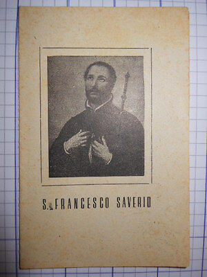 SANTINO HOLY CARD S. Francesco Saverio  (16gg) ^