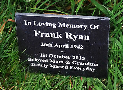 Personalised Natural Granite Memorial Plaque Grave Marker Headstone Engraved