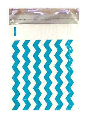 250 #0 Chevron Poly Bubble Padded Mailers - ID: 6.5 x 9.25