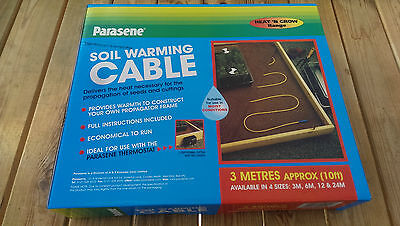 Greenhouse Soil Warming Cable 3m 10 feet for Propagation Beds & Frost Protection