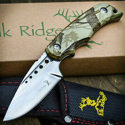 "7"" Elk Ridge Hunting Skinning Survival Fixed Blade Full Tang Knife Bowie Fish"