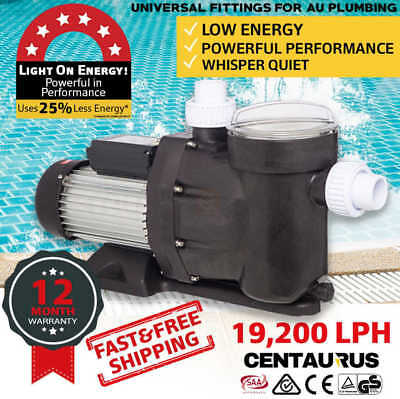 CENTAURUS Swimming Pool Pump 1.6HP 1200W Electric Self Priming Spa Water Filter