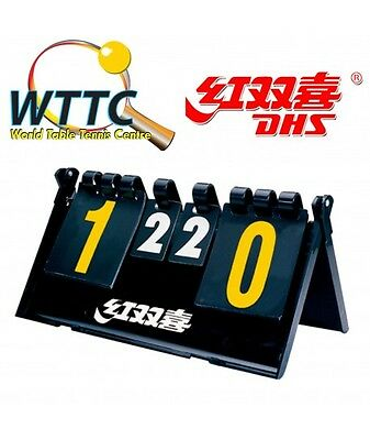 Double Happiness F504 Portable Fold Compact Table Tennis Scoreboard