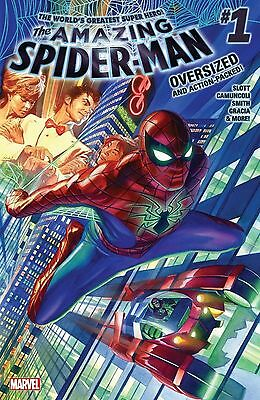 AMAZING SPIDER-MAN 1 OVERSIZED 2015 MARVEL COMICS LOT OF 10X COPIES NM or BETTER