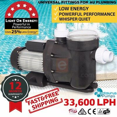 CENTAURUS Swimming Pool Pump 2.7HP 2000W Electric Self Priming Spa Water Filter