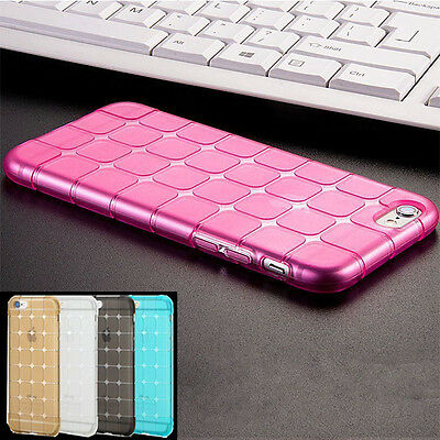 Luxury Clear Shockproof Silicone/Gel/Rubber Case Slim Cover For iPhone Sony LG