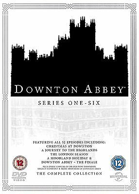 DOWNTON ABBEY Stagioni 1-6 Serie Complete (2016) BOX 26 DVD in Inglese NEW .cp