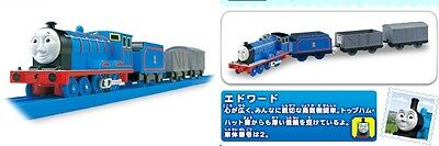 TOMY TRACKMASTER TS-02 MOTORIZED TRAIN Edward WITH 2 CARRY CAR
